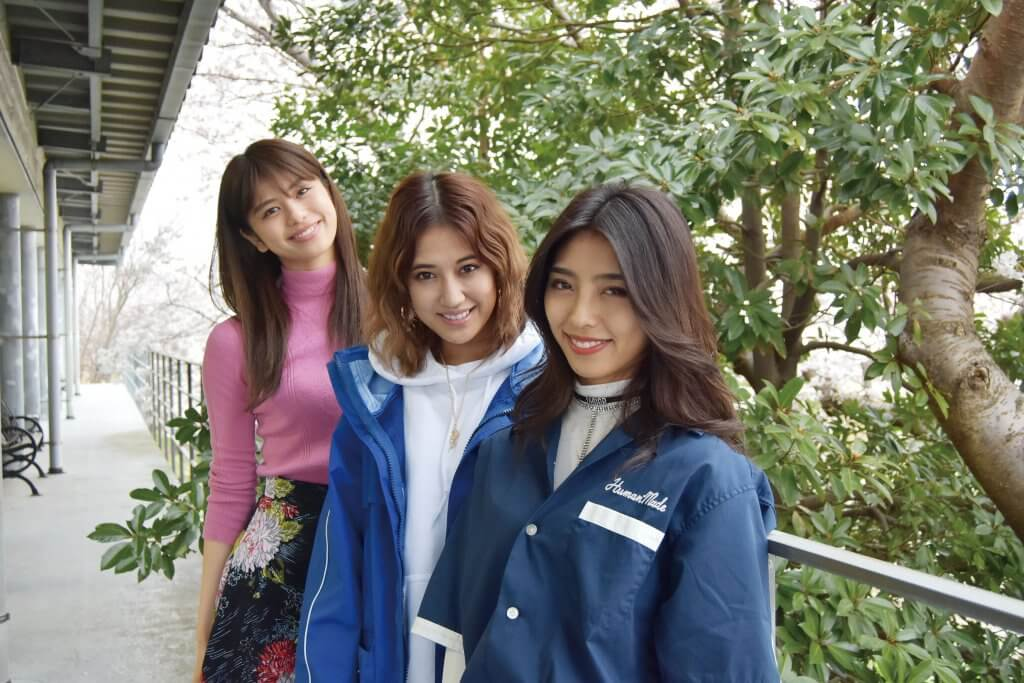 クールでキュートなe girlsの3人が来社 ライブ アルバムを語る